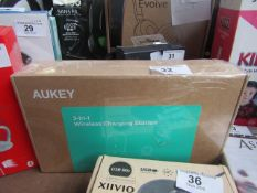 Aukey 3 In 1 Wireless charging station - Untested & Boxed, box is still sealed so this item could be