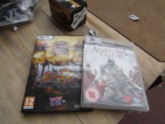 Assasins Creed 2 for PS3 - Game is in good condition - Untested as no PS3 - & Streetfighter 4