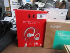 JBL Under Armour X Sport wireless earbuds with heart rate monitor - Untested & Boxed - RRP £50
