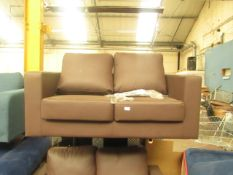   1X   LOFT ISABELLA 2 SEATER LEATHER SOFA   DAMAGED ON THE LEFT SIDE OF THE SOFA HOWEVER IF PUT