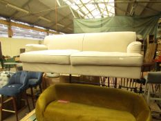   1X   MADE.COM ORSON 3 SEATER SOFA, CHIC GREY   UNCHECKED & NO FEET PRESENT   RRP £829  
