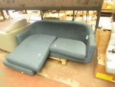   1X   MADE.COMM LOTTIE COMPACT CHAISE END SOFA, HARBOUR BLUE   NO VISIBLE DAMAGE (NO GUARANTEE)  