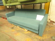   1X   MADE.COM CHOU SOFA BED WITH STORAGE   UNCHECKED & HAS NO FEET   RRP £529  