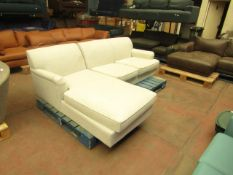   1X   MADE.COM ORSON LEFT HAND FACING CHAISE END CORNER SOFA, CHIC GREY   UNCHECKED & APPEARS TO BE