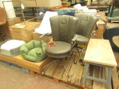   1X   COX & COX INDUSTRIAL STYLE OFFICE CHAIR, GREY   LOOKS IN GOOD CONDITION (NO GUARANTEE)  