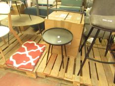   1X   COX & COX ROUND INDUSTRAIL SIDE TABLE - SMALL   NO VISIBLE DAMAGE   RRP œ95  