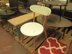   1X   COX & COX WHITE DINING CHAIR   NO MAJOR DAMAGE NEEDS A CLEAN & NO BOX   RRP ?  