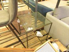   1X   COX & COX VILLETTE SIDE TABLE - BURNISHED BRASS   NO VISIBLE MAJOR DAMAGE   RRP ?295  