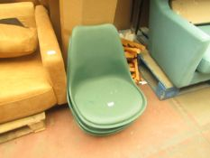   5X   MADE.COM THELMA OFFICE CHAIRS, GREEN   UNCHECKED   RRP £109   TOTAL LOT RRP £545  
