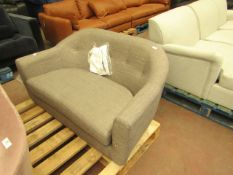   1X   MADE.COM LOTTIE 2 SEATER SOFA, CHALK GREY   UNCHECKED & NO FEET PRESENT   RRP £399  