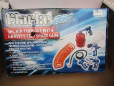1x CL AIRTOOL KIT1100 5PCE KIT, This lot is a Machine Mart product which is raw and completely