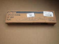 1x CL SPOKE SHAVE FLAT CHT416, This lot is a Machine Mart product which is raw and completely