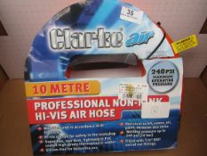 1x CL HOSE HV010 AIR 9MMX10M HIVI, This lot is a Machine Mart product which is raw and completely