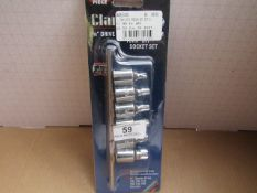 1x CL TORX BITS PRO334 6PC SET 3/8, This lot is a Machine Mart product which is raw and completely