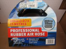 1x CL HOSE 3125805 AIR 3/8X15M RU, This lot is a Machine Mart product which is raw and completely