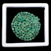 Natural (Untreated ) Colombian Emeralds – 15.30 Carat – 120 Pieces – Pear Cut.Average retail