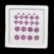 Natural (Untreated- Unheated) – Rhodolite Garnet – 3.09 Carats – 100 pieces – Round Diamond cut.