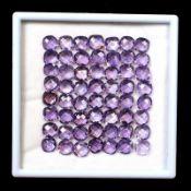 "Natural (Untreated ) Brazilian Amethyst – ""Huge""105.45 Carats – 56 Pieces – Checker board Cushion"