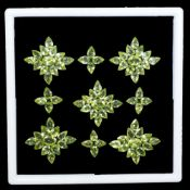 Natural (Untreated ) Peridot – 36.40carats – 81 Pieces – Pear cut. ALL CERTIFIED REPORTS CAN BE
