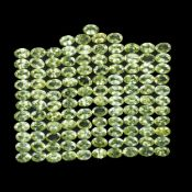 Natural (Untreated- Unheated) – Peridot – 50.00 Carats – 115 pieces – Oval cut. average retail value