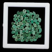 Natural (Untreated – Colombian Emeralds – 14.45 Carat – 68 Pieces – Pear Cut. Average retail