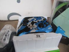 Power A enhanced wired controller for Xbox series X/S - Untested & Boxed - Blue Camo