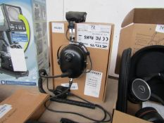 Retrvis 2 way radio head set, unchecked and boxed, RRP £99