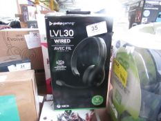 PDP Gaming Level 30 Wired Headset - Untested & Boxed -