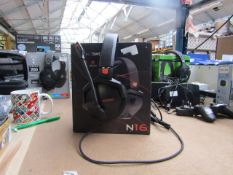 Nubwo N16 Gaming headset, tested working for sound to the earphones, comes with original box
