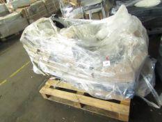 1 x Made.com Aidian Large Corner Sofa Bed with Storage Regal Blue Velvet RRP £1499 SKU MAD-