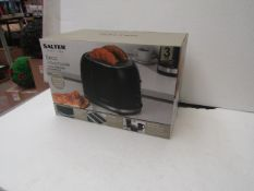 Salter Deco 2 Slice Toaster With Removable Crumb Tray - Refurbished & Boxed - RRP £19.99.