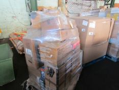 1X PALLET CONTAINING HOME ELECTRICAL AND SOME FITNESS GEAR | PLEASE BE AWARE THESE PALLETS ARE
