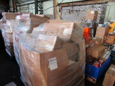 1X MIXED PALLET CONTAINING HOME ELECTRICAL AND SOME FITNESS ITEMS | PLEASE BE AWARE THIS PALLET IS