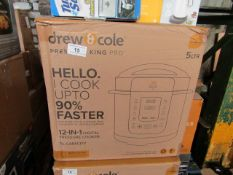 4X DREW & COLE PRESSURE KING PRO 12 IN 1 PRESSURE COOKERS | UNCHECKED & BOXED | NO ONLINE RESALE |
