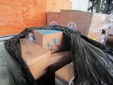 1X PALLET CONTAINING MOSTLY FITNESS GEAR POSSIBLY SOME ELECTRICAL | ALL UNCHECKED & SOME MAY BE