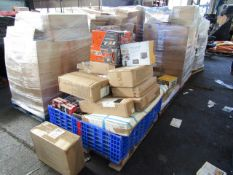 1X SALVAGE MIXED PALLET CONTAINING AROUND 20 ITEMS OF FITNESS AND ELECTRICAL GEAR | ALL