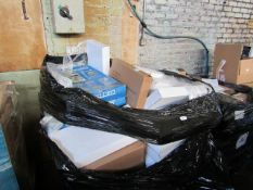 1X PALLET CONTAINING HOME ELECTRICALS | PLEASE BE AWARE THESE PALLETS ARE UNMANIFESTED & UNCHECKED