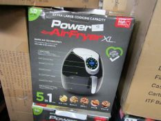 2X 5L POWER AIR FRYERS | UNCHECKED & BOXED | NO ONLINE RESALE | RRP £99.99 EACH | TOTAL LOT RRP £