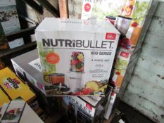 2X NUTRIBULLET 600 SERIES BLENDERS | UNCHECKED & BOXED | NO ONLINE RESALE | RRP £60 EACH | TOTAL LOT