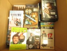 Box Containing Approx 60+ Various DVD's & CD's - All Unchecked.