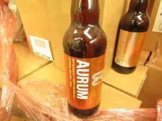 8x Eden River Brew Co - Aurum - Refreshingly Fruity Golden Ale - ALC 4.4% Vol - 500ml - New &