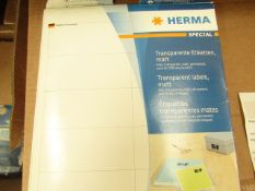 20x Herma - Premium Labels - Please Note, Labels Are Assorted Colours & Sizes - All Unused.