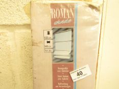 Roman Shade Style Blind - Drop 180cm X Width 140cm - Unchecked & Boxed.
