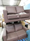 | 2X | LOFT ISABELLA 2 SEATER LEATHER SOFA | BOTH HAVED DAMAGE, ONE ON THE LEFT SIDE AND OTHER ON