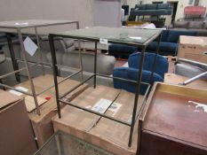 | 1X | COX & COX VILLETTE SIDE TABLE - BURNISHED BRASS | NO VISIBLE MAJOR DAMAGE HOWEVER THE FRAME