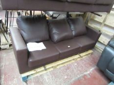 | 1X | LOFT ISABELLA 3 SEATER LEATHER SOFA | UNCHECKED & NO FEET PRESENT | RRP £315 |