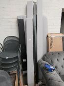| 1X | MADE.COM BESLEY KING SIZE BED, HAIL GREY | UNCHECKED & APPEARS TO HAVE ALL PARTS INCLUDING
