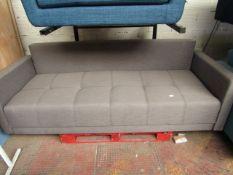 | 1X | MADE.COM CHOU CLICK CLACK SOFA BED WITH STORAGE, CYGNET GREY | HAS A SMALL SLIT AT THE BOTTOM