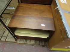 | 1X | MADE.COM ANDERSON BEDSIDE TABLE, MANGO WOOD & BRASS | LOOKS IN GOOD CONDITION (NO
