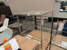 | 1X | COX & COX VILLETTE SIDE TABLE - SILVER | NO VISIBLE MAJOR DAMAGE HOWEVER THE FRAME APPEARS TO